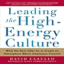 Leading the High Energy Culture: What the Best CEOs Do to Create an Atmosphere Where Employees Flourish Audiobook by David Casullo Narrated by Tony Craine