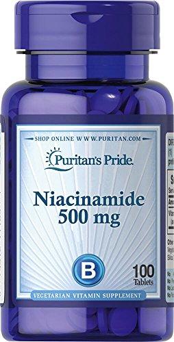 (Puritan's Pride Niacinamide 500 mg-100 Tablets)
