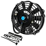 7 electric fan kit - 7 Inch High Performance Black Electric Radiator Cooling Fan Assembly Kit