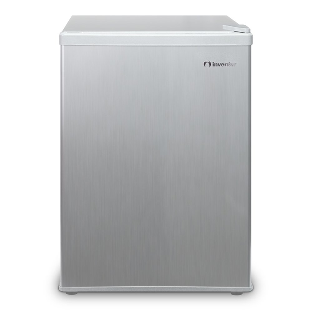 Inventor A++ Compact & Mini Fridge,Silver, 43L Internal Capacity, Ideal for Bedrooms, Office and Dormitories, Energy Savings and Eco-Friendly [Energy Class A++]