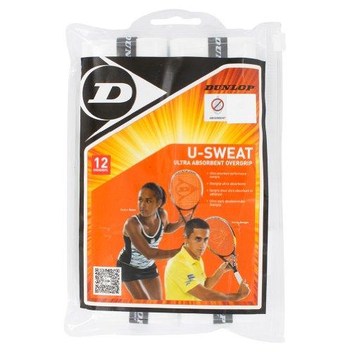 (DUNLOP T613231 U Sweat 12 Pack Tennis Overgrip White )