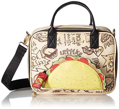 Betsey Johnson Let's Taco 'Bout It Lunch Tote, Natural