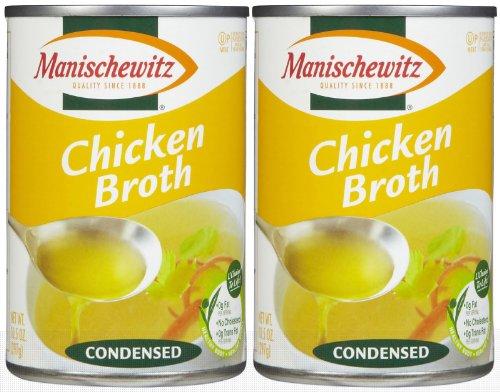 Manischewitz Chicken Soup Broth (Kosher For Passover), 10.5 oz, 2 pk ()