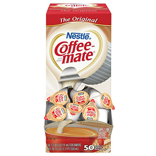 Nestle Coffee-mate Coffee Creamer, Original, 0.375oz Liquid Creamer Singles, 50 - Singles Coffee Creamer