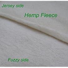 Hemp Organic Cotton Fleece Fabric Certified Organic, By the Yard