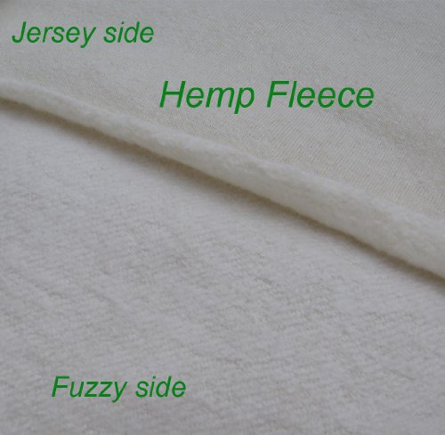Hemp Organic Cotton Fleece Fabric Certified Organic, By the Yard (Certified Fabric)
