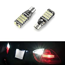 CICMOD 2pcs 1000 lumens Extremely Bright Canbus Error Free 921 912 T10 T15 W16W 4014 45pcs Chipsets LED Bulbs For Turn Signal Backup Reverse Lights, Xenon White 6000K