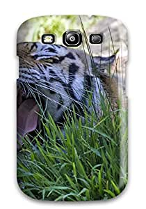 Hot 1070716K43049884 Awesome Tiger Flip Case With Fashion Design For Galaxy S3