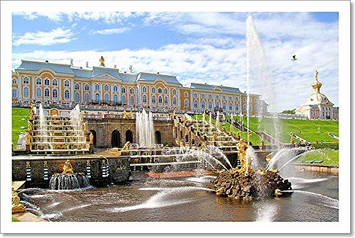(Barewalls Petergof Palace, Russia Paper Print Wall Art (10in. x 15in.))