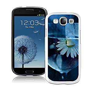 BINGO classic Daisy, Flower, Glass, Water Samsung Galaxy S3 i9300 Case White Cover