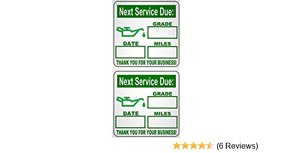 4 Roll 500 Total 2000 Stickers Non-personalized Oil Change Reminder Sticker
