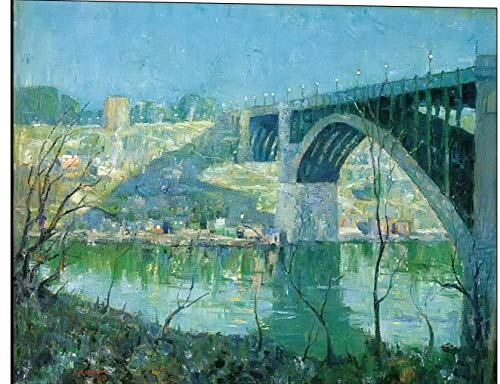 Cutler Miles Spring Night Harlem River Ernest Lawson Print on Wood