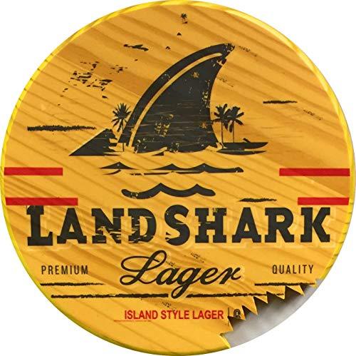"""Landshark 12"""" round wood sign"""