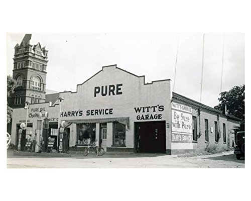 1941 Pure Oil Gas Station Photo Poster Greenwood SC Gas Globe