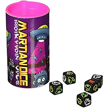 amazon com martian dice game toys games