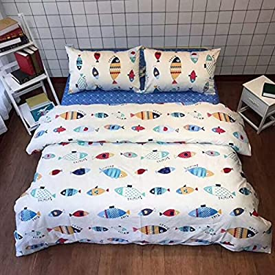 karever Kid Bedding Set Duvet Cover Sets Queen Full Twin King Grid Plaid Dinosaur Cactus Stripes Striped Black and White Gray Grey Navy Blue Bear Men Woman Kids Boys Girls Friend Gift