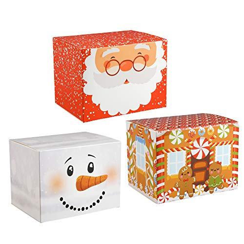 30 Piece Gift to Go Christmas Boxes, Holds Christmas Treats and Gifts, Perfect for Holiday Gift -
