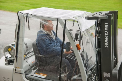 Heavy Duty Full Forklift Cab Enclosure Cover Clear Vinyl Large Size by Stadry