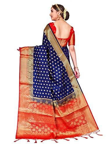 fb4c366d3 ELINA FASHION Sarees Women Banarasi Art Silk Woven Work Saree l Indian  Wedding Traditional Wear Sari