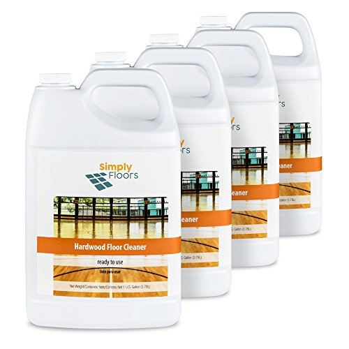 Simply Floors FLC-00062 Hardwood Floor Cleaner - [Pack of 4 - 1 gallon bottles]  Safe Wood Floor Surface Cleaner Ready to Use Formula