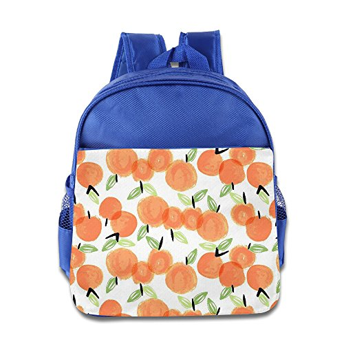 Alexander Orange Fruit Wonderful Kid's Preschool Canvas Bag Shoulder Backpack Schoolbag