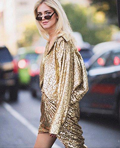 Mujer Girl sol Sunglasses Bold Gafas Ins Redondo de Rojo Summer Gafas 4wpqS6ZZ