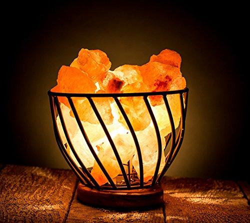 HemingWeigh Himalayan Salt Lamp Metal Bowl with Himalayan Salt ...