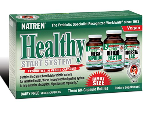Natren Healthy Start System Kit Capsules 60 Caps, Dairy Free (Ships Cold)