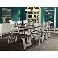 Newport 9 Piece Extension Dining Table Set for 8 (Dining Chairs & Benches)