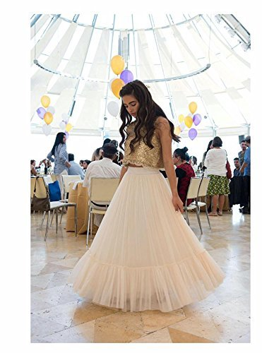 27dada76b1 Amazon.com: Gold Boho-chic Flower Girl Dress, Junior Bridesmaid Dress, Boho  champagne skirt and gold top set, boho flower girl dress, Bohemian Wedding:  ...