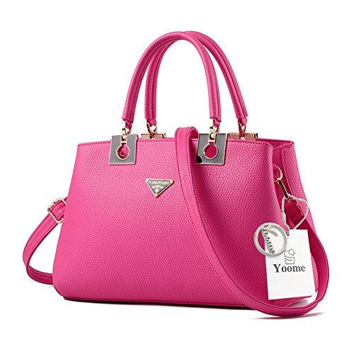 Yoome Borse Borsa Grande per Donne Top Tote Handle Borse Elegante Borse Donna con Cinghie - Rosa