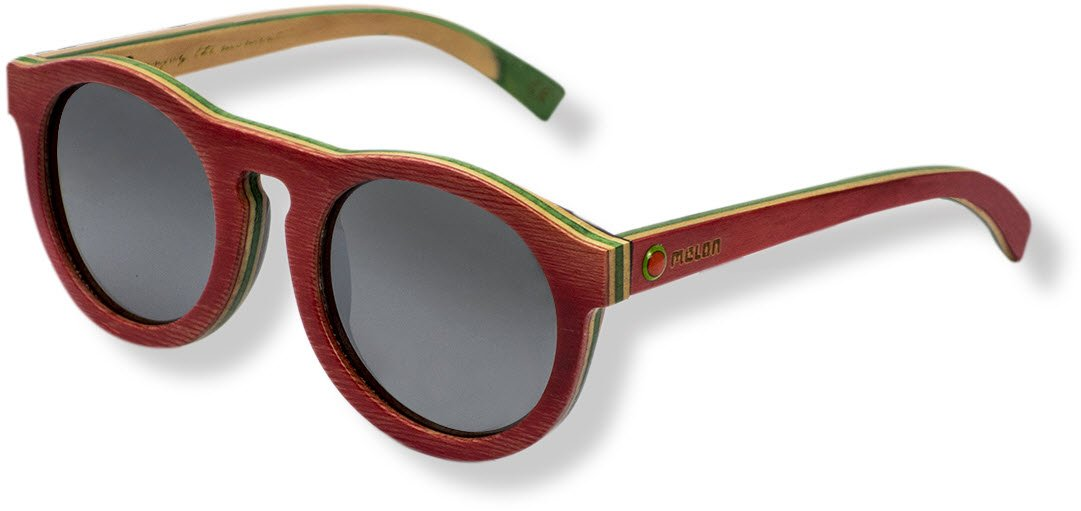 Melon Skatewood Sonnenbrille, Candy Choc, One Size