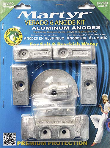 Martyr CMVERADO6KITA Verado 6 cylinder Aluminum  Anode Kit  Aluminum