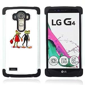 - love cute frogs married white minimalist/ H??brido 3in1 Deluxe Impreso duro Soft Alto Impacto caja de la armadura Defender - SHIMIN CAO - For LG G4 H815 H810 F500L
