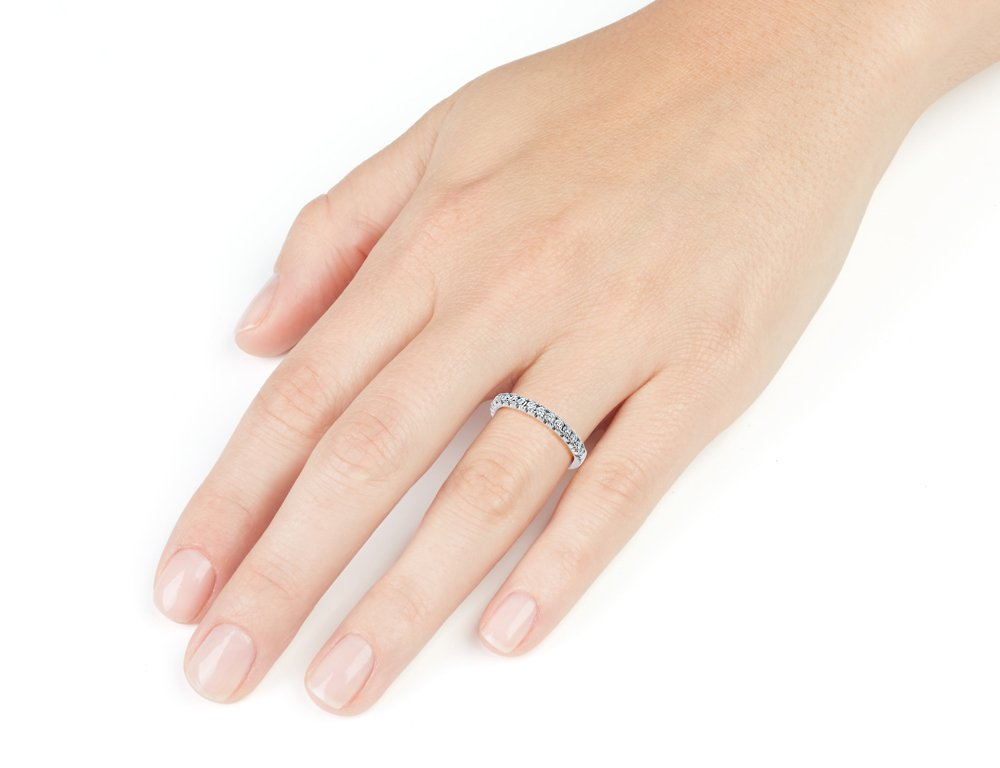Diamond Wedding Band and Anniversary Comfort Fit Ring 1/4 Carat (ctw) in 14K White Gold by Gem And Harmony (Image #2)
