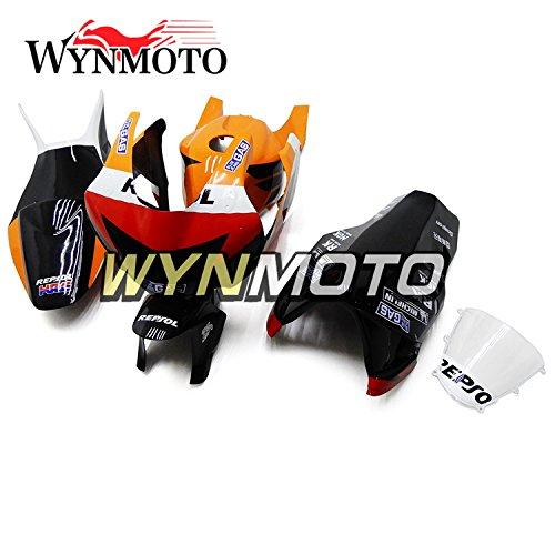 WYNMOTO オートバイボディキットホンダ CBR600RR F5 2005 2006 オレンジレッドブラックオリジナルグラスファイバーレーシングインジェクションフェア   B07842HTQX