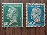 Old French Louis Pasteur postage stamps%