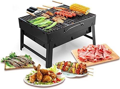 DONG HAI qualità Griglia Pieghevole Barbecue, Carbone Filo Barbecue Portatile, Attrezzi di Campeggio All'aperto per PIC-Nic, Escursioni A Piedi,2pack