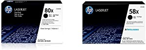 HP 80X | CF280XD | 2 Toner Cartridges | Black | High Yield & 58X | CF258X | Toner Cartridge | Black | High Yield