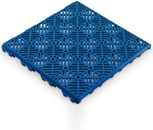 Antihumedades Pack 12 Losetas Auto-Ventilada para remolques, perreras, y jaulas Suelos ventilada Color Azul