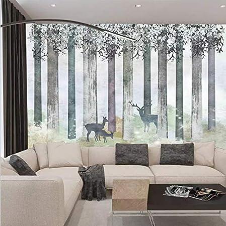 Bois de forêt de wapiti, 250 * 175cm, style nordique ...