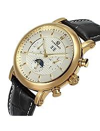 Mastop Men's Automatic Moon Phase Wrist Watch FSG319MM