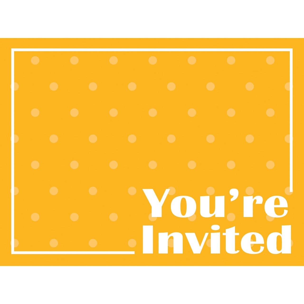 Invitation School Bus Yellow