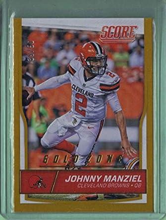 8c66f2b3a Amazon.com  2016 Score Gold Zone  75 Johnny Manziel  Collectibles ...