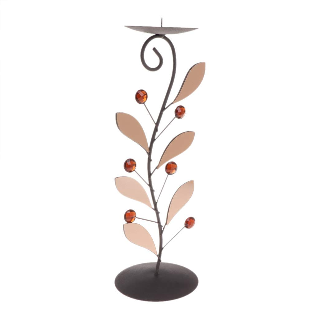Longsw Leaf Candle Tea Light Holder Candlestick Stand Party Home Decor Desk Ornament
