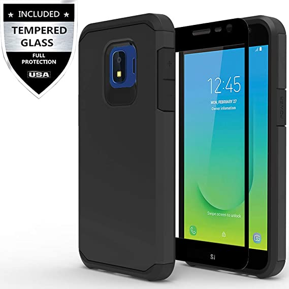 new product 9cf22 fc2ac Samsung Galaxy J2 (2019) Case,Galaxy J2 Core Case,Galaxy J2 Dash/Galaxy J2  Pure Case with Tempered Glass Screen Protector,IDEA LINE Heavy Duty ...