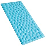 Bathroom Mat Rubber Non-slip Soft Rubber Bathtub Mat OTHWAY Bathroom Bathmat with Strong Suction Cups Blue