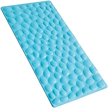 Non Slip Bathtub Mat OTHWAY Soft Rubber Bathroom Bathmat With Strong  Suction Cups (Blue