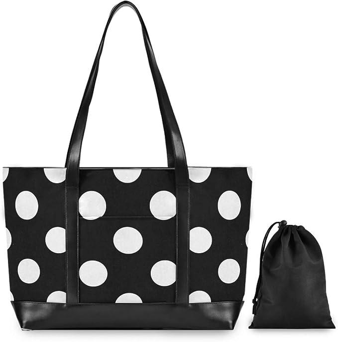 Red White Polka Dot Laptop Bag,Shoulder Case Laptop Sleeve Bag Briefcase