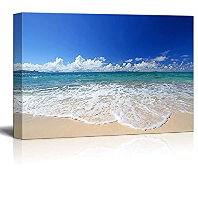 Magnificent Piece, Beautiful Scenery Landscape Gorgeous Beach in Summertime Wall Decor, With a Professional Touch